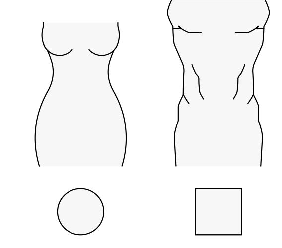 Obrazek przedstawiający kształty męskiego i kobiecego ciała ludzkiego.