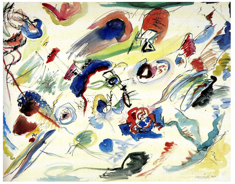 A picture of Vassily Kandinsky Untitled (First Abstract Watercolor), 1910