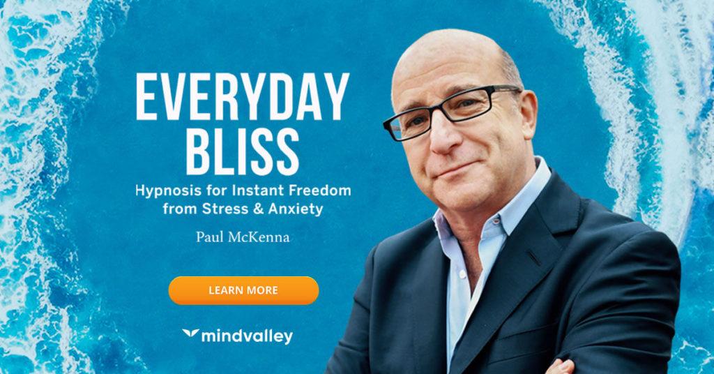 "Reklama programu Mindvalley ""Everyday Bliss""."