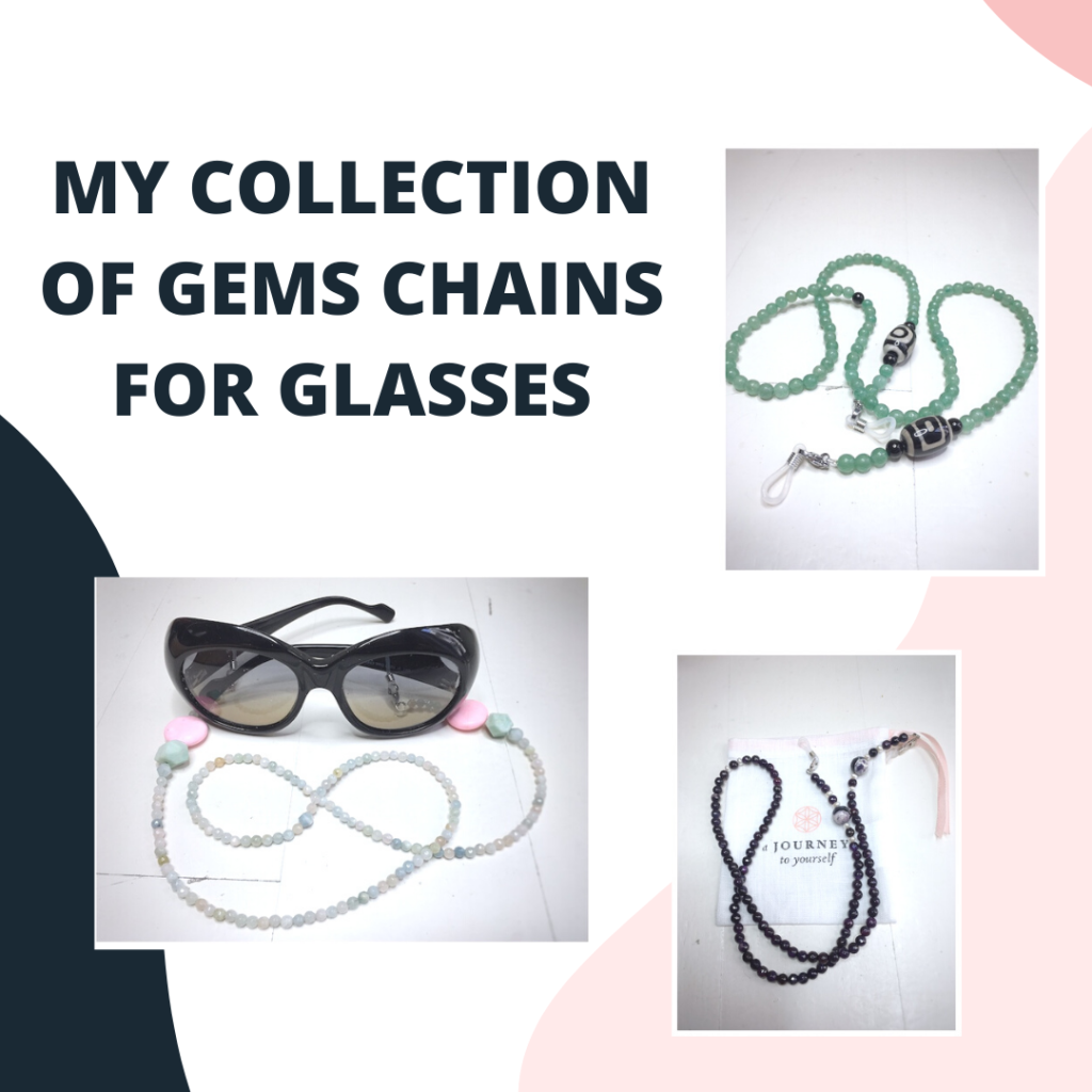 Chain advertising for glasses.