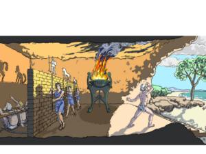 Rysunek - Schemat Jaskini Platona.